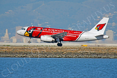 ALPEE 00181 Airbus A319 US Airways N837AW Arizona Cardinals by Peter J Mancus