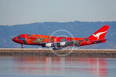 ALPEE 00036 Boeing 747 Qantas Wunala Dreaming VH-OEJ by Peter J Mancus