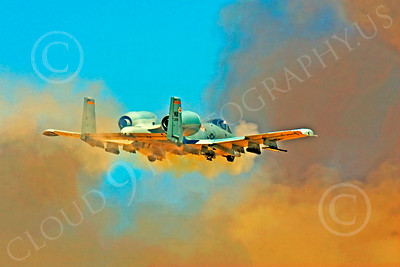 A-10USAF 00236 Fairchild Republic A-10 Thunderbolt II firing canon by Peter J Mancus