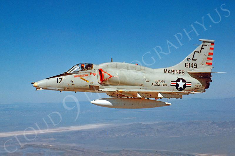 A-4USMC 00004 Douglas A-4M Skkyhawk USMC 158149 VMA-211 Avengers March 1982 by Peter J Mancus