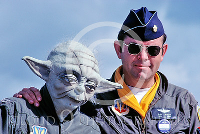 ACM_00042_F-106_pilot_Major_Dick_Stultz_with_Yoda_by_Peter_J_Mancus