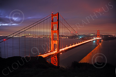 ENGF-GGB 00084 A beautiful picture of the Golden Gate Bridge at night, by Peter J Mancus