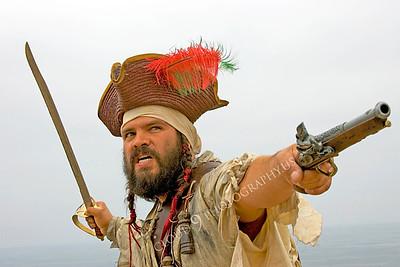 HR-PIR 00018 A historical reenactor pirate attacks, by Peter J Mancus
