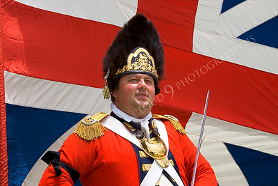 HR-ARWBR 00001 An American Revolutionary War British Redcoat soldier historical reenactor, by Peter J Mancus