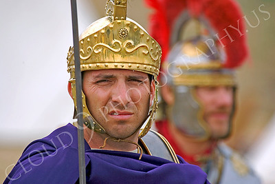 HR-RL 00006 A Roman Legion historical reenactor soldier snears, by Peter J Mancus
