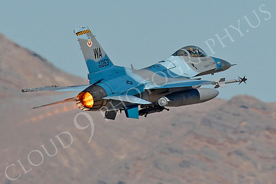AB - F-16USAF 00168 Lockheed Martin F-16 Fighting Falcon USAF 89053 WA AFTERBURNER by Peter J Mancus