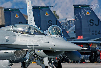 ACM 00286 USAF Lockheed Martin F-16 Fighting Falcon fighter pilots by Peter J Mancus