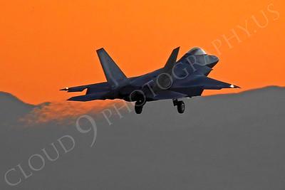 ArtyM 00146 Lockheed Martin F-22 Raptor USAF Nellis AFB by Peter J Mancus