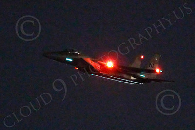 F-15USAF 00142 McDonnell Douglas F-15 Eagle USAF AGGRESSOR at night by Peter J Mancus