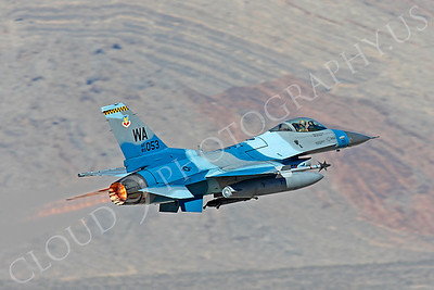 AB - F-16USAF 00142 Lockheed Martin F-16 Fighting Falcon USAF 89053 WA AFTERBURNER by Peter J Mancus