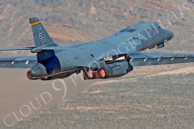 B-1USAF 00078 Rockwell B-1 Lancer USAF 37BS 86094 EL by Peter J Mancus