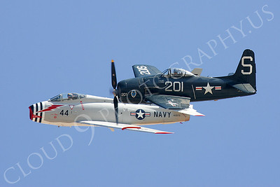 WB - 00006 North America F4-B Fury with Grumman F8F Bearcat by Peter J Mancus