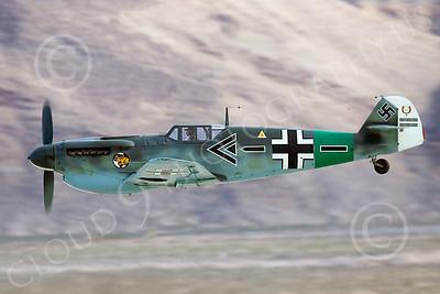 WB - Messerschmitt Bf-109G 00056 Messerschmitt Bf-109G makes a low level pass, by Peter J Mancus