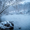 The Appomattox River in snow