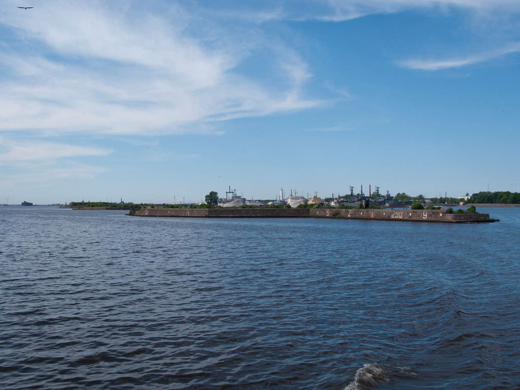 View to Kronshtadt docks