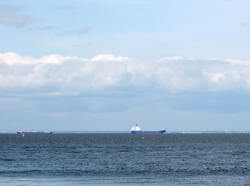 View to Gulf on Finland, streamship