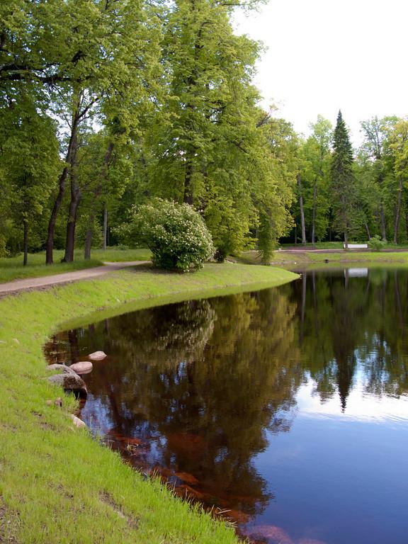 The upper park. Karlin pond.
