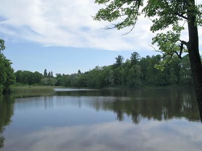 The lower pond. Petrovslii park, 2