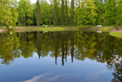 The upper park, Karlin pond