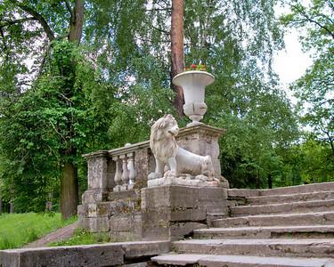 Lion on Italian staircase