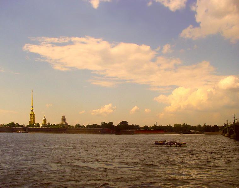 Sunset over Neva