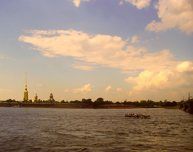 Sunset over Neva