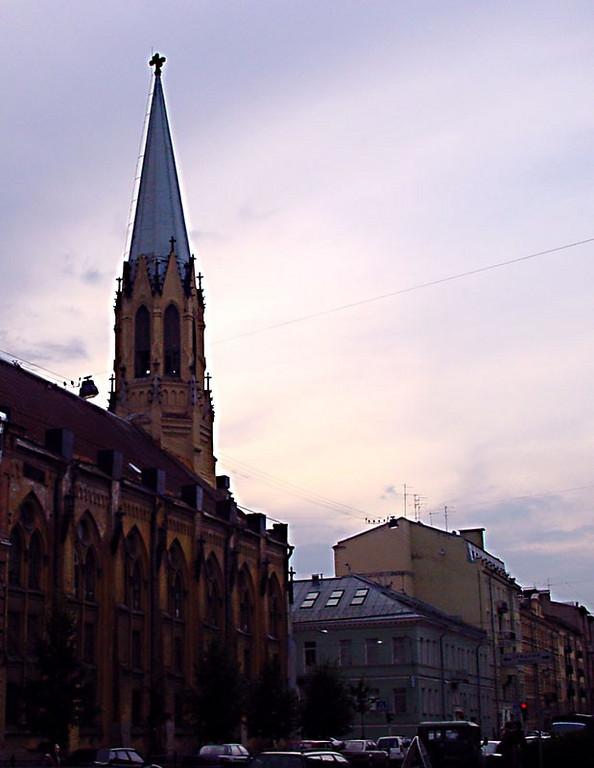 Vasilyevsky Island. the Lutheran Church.