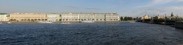 View to Palace embankment (panorama)
