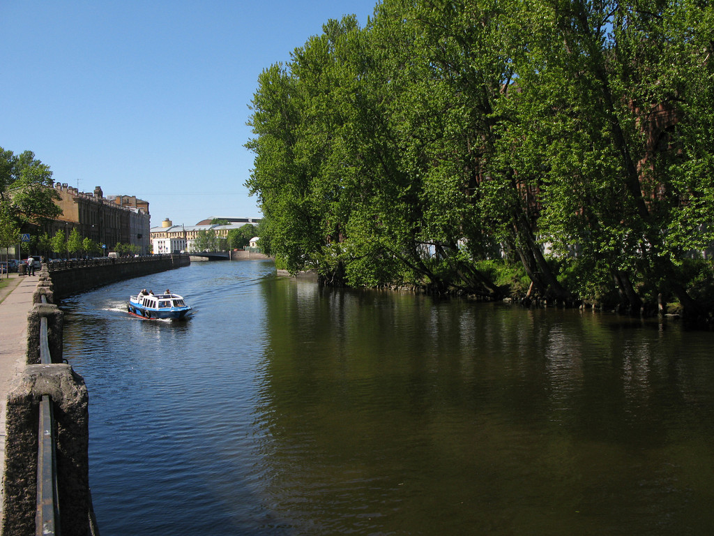 Griboedov canal. New Holland.