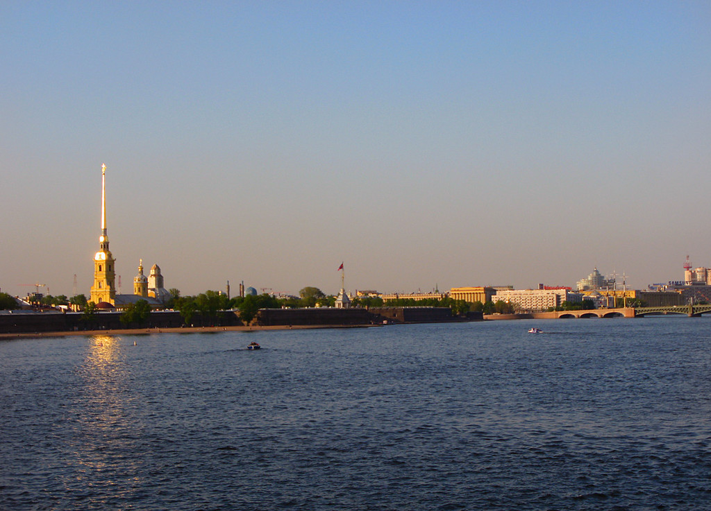 Neva, sunset