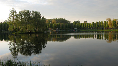 Pond in the Victory Park