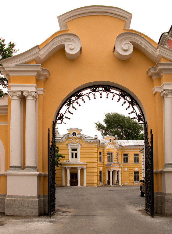 The Alexander Nevski Monastery. A side gate.