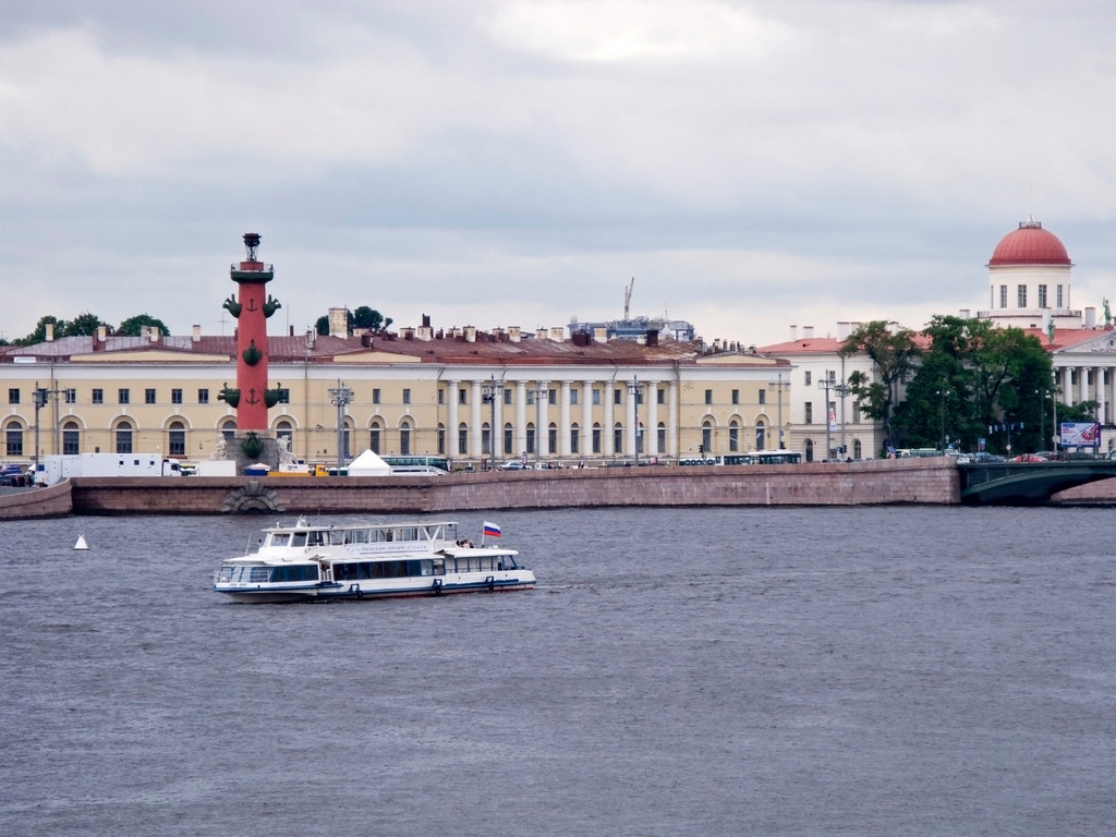 View from the Peter and Pavel  Fortressl to Makarov embankment