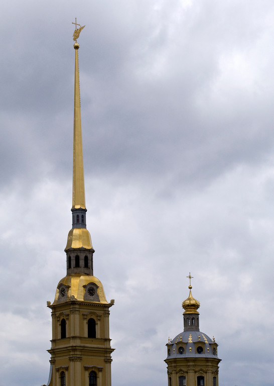 Peter and Pavel Fortress. Cupolas and spire.