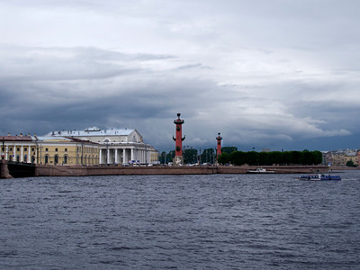 the Strelka (the eastern tip of Vasilyevsky Island in St. Petersburg)