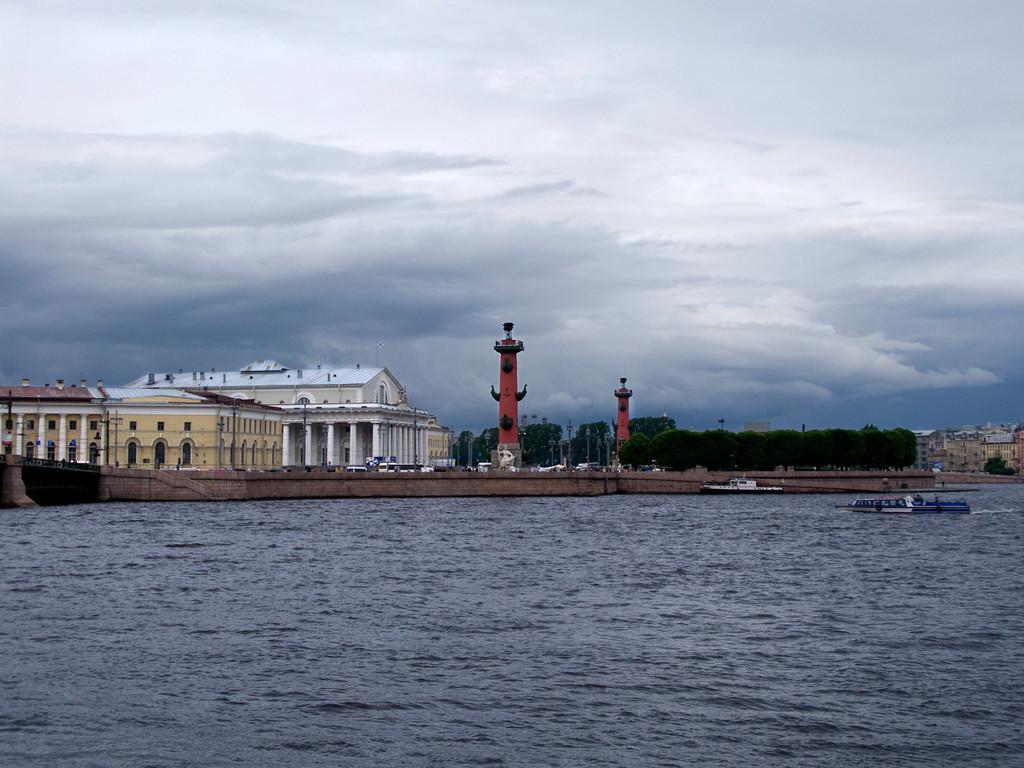 the Strelka (the eastern tip of Vasilyevsky Island in St. Petersburg)