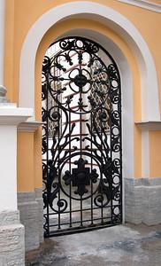 Tthe Alexander Nevski Monastery. A side door.