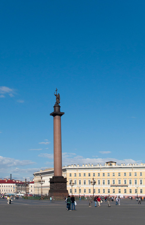 The Palace square, Alexander I column.
