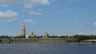 View to Peter and Pavel Fortress  from Trinity bridge.