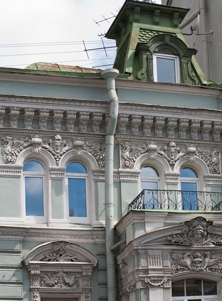 Kamennoostrovsky avenue, fragment of old building