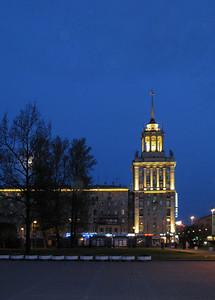 "Domestic building near underground railway station ""Pobeda Park"""