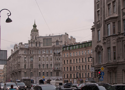Kamennoostrovskii prospect. View to Austric square.