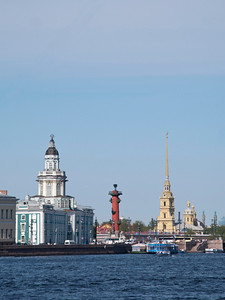 Cabinet of curiosities, Rostral column, Fortress by Peter and Pavel.