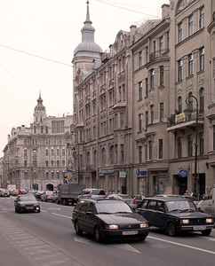 Kamennoostrovskii prospect. View to Austric square.