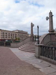 Pikalov bridge on the crossing of Griboedov and Kryukov Canals
