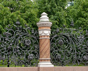 A grille of Mikhailov garden (near Spas-na-krovi)