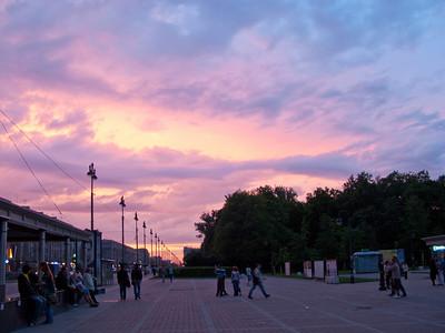 Sunset before rain.