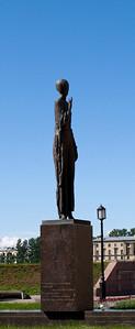 Robesp'er embankment, monument to Ahmatova