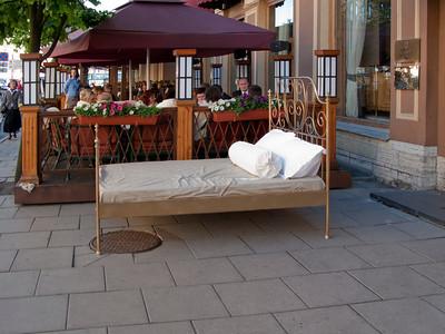 A bed near restaurant (Mikhailovskaya Str.)