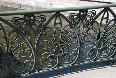 Grille of bridge at Griboedov canal